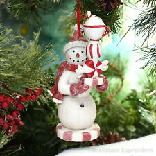 """Singing Snowing Snowman Christmas Tree Decoration w// Clear Lights Decor 5.5/"""" FT"""
