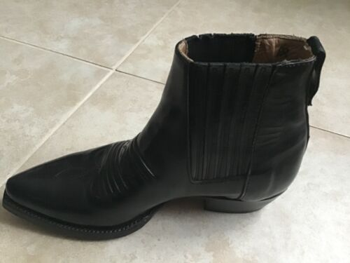 Mens Loblan Cowboy Style Ankle Boots