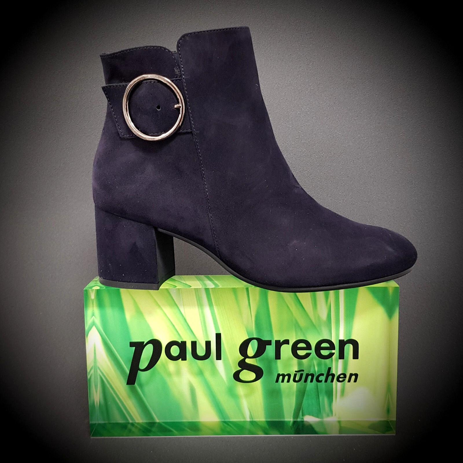 Nuevo Paul Verde botín bota botas ancle de 9322-013 azul de ancle cuero a la moda b514ed