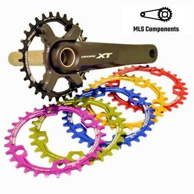 96BCD-S Narrow Wide Chainring 32T//34T//36T//38T MTB Bike Single Chain Ring M7000