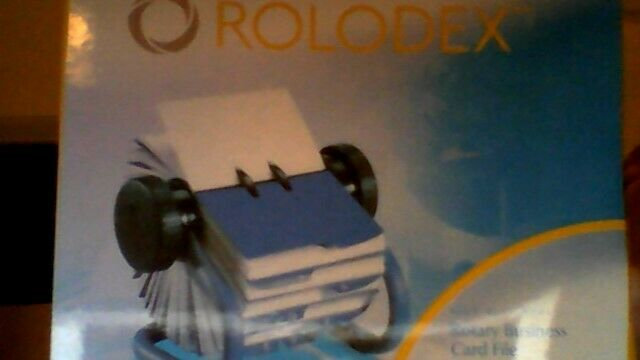 Rolodex Open redary Business Card File A to Z  INDEXED TABS AND 200 CARD  blueE