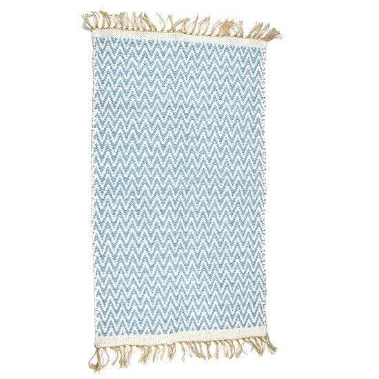 Iuta & Blu Reversibile Cotone riciclato tappeto 70 x 115 CM di Indra