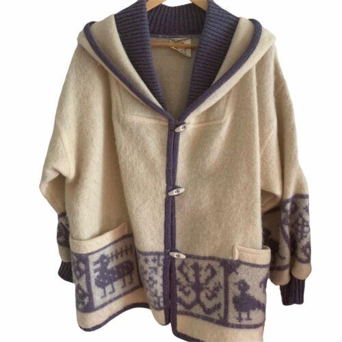 Vintage Alafoss Iceland Toggle Coat XS Wool Nordic