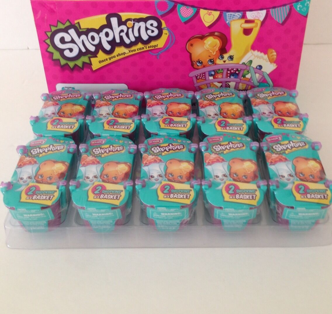 Shopkins SEASON 3 Sealed 10 Blind Baskets Find Limited Edition Ultra Rare