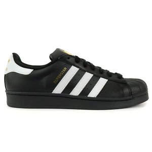 Adidas Men's Superstar Foundation Core Black/White Shoes B27140 NEW!