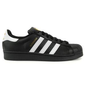 Adidas Men's Superstar Foundation Core Black/White Shoes B27140 NEW!