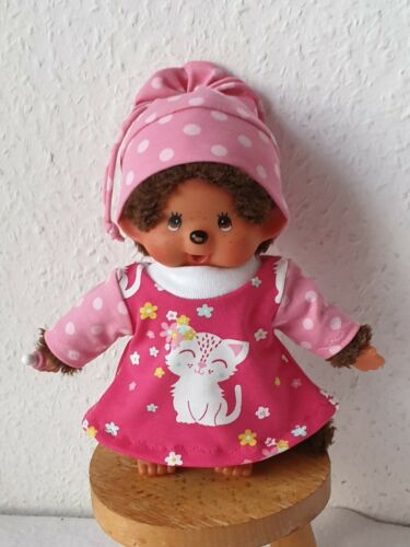 2Tlg Kleidung kleid 20cm  rosa Mütze passend für Monchichi Gr Kätzchen