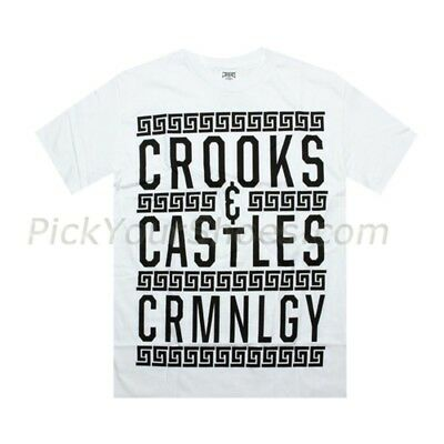 Men's Clothing Imported From Abroad Crooks And Castles Border Text White T Shirt 960703wht