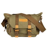 Canvas Camera Case Shoulder Bag Backpack for Canon Nikon Sony SLR DSLR