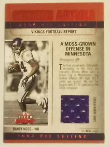 wholesale dealer 7686a 445f9 Details about 2004 Randy Moss fleer genuine article game worn relic card