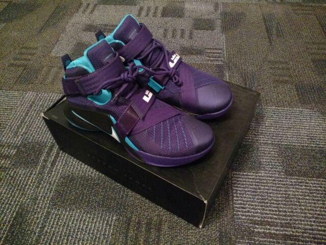 new styles ccfc0 32923 Nike Zoom Lebron Soldier IX Summit Lake Hornets Purple 749417-510 Ts0105 Sz  13