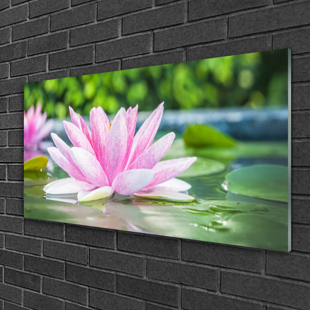 Print on on on Glass Wall art 100x50 Picture Image Flower Water Art 6fcbdb