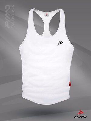 PIMD Box Male Vest Red// Black Gym Stringer Muscle Mens S M L XL