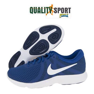 Nike Revolution 5 Uomo Bianco Azzurro