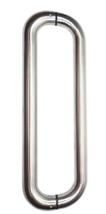 Stoßgriff für Glas und Holz Türen Durchmesser 30 mm matt gebürstet