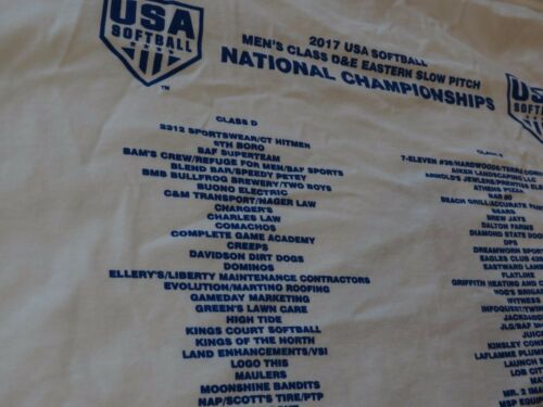 2017 National Championship USA softball Gildan XL long sleeve T shirt Mens adult