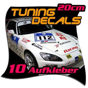 Details Zu Motorsport Sponsoren Aufkleber Set 5 Paare 20cm Länge Diverse Farbenset