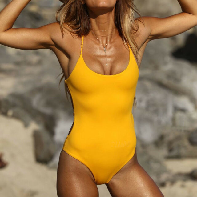 4e61f88faf127 One Piece Women Bandage Thong Bikini Swimsuit Swimwear Bathing ...