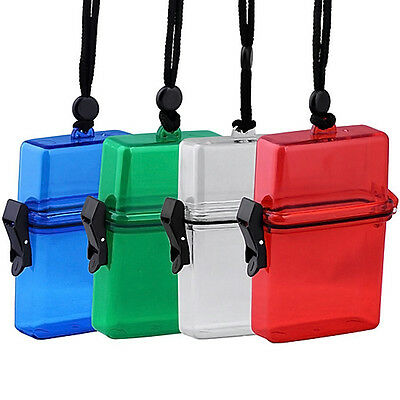 Plastic Waterproof Travel Container Key Pills Cigarette Storage Box Case Holder
