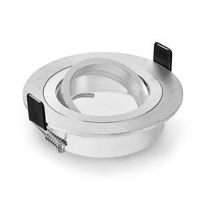 LEDOX Einbaustrahler Einbaurahmen BiColor Rund Aluminium GU10 MR16 LAMPE Rahmen