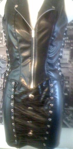 Chic Federation Black Rock Leather Style Waistcoat Look The Biker TpXSdqT