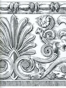 Image Is Loading Architectural Black And White Damask Wallpaper Border