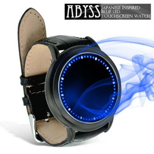 LED Watch Abyss Japanese Style Inspired Blue Light Touch Screen Unisex Black