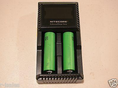 NITECORE D2 Digi charger w// 2 Sony US 18650 VTC5 2600mAH 30a battery