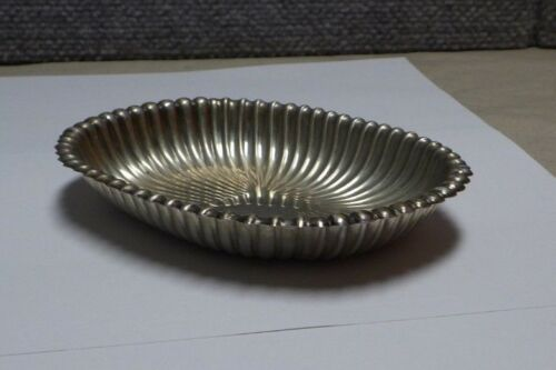 Gorham Sterling Silver LEAMINGTON #60 Ribbed Oval Candy Dish No Mono 2.8 Toz
