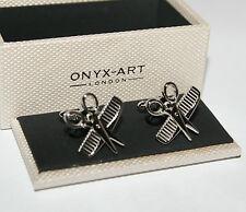 Novelty Cufflinks - Hairdresser Comb & Scissors Design