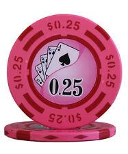 100pcs 14g Yin Yang Casino Table Clay Poker Chips $0.25