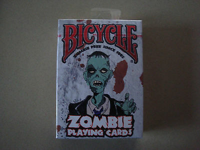 ZOMBIE BICYCLE DECK OF PLAYING CARDS HORROR HALLOWEEN COLLECTIBLE MAGIC TRICKS