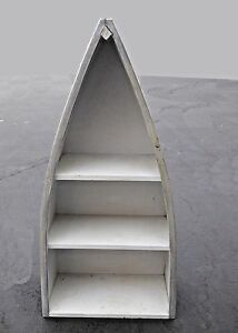 Image Is Loading Nautical Style Three Tier Gray Row Boat BOOKCASE