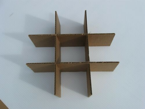 """Cardboard Dividers 5 Sets 12/"""" X 12/"""" X 4/"""" High 9 cell B 12-4-02"""