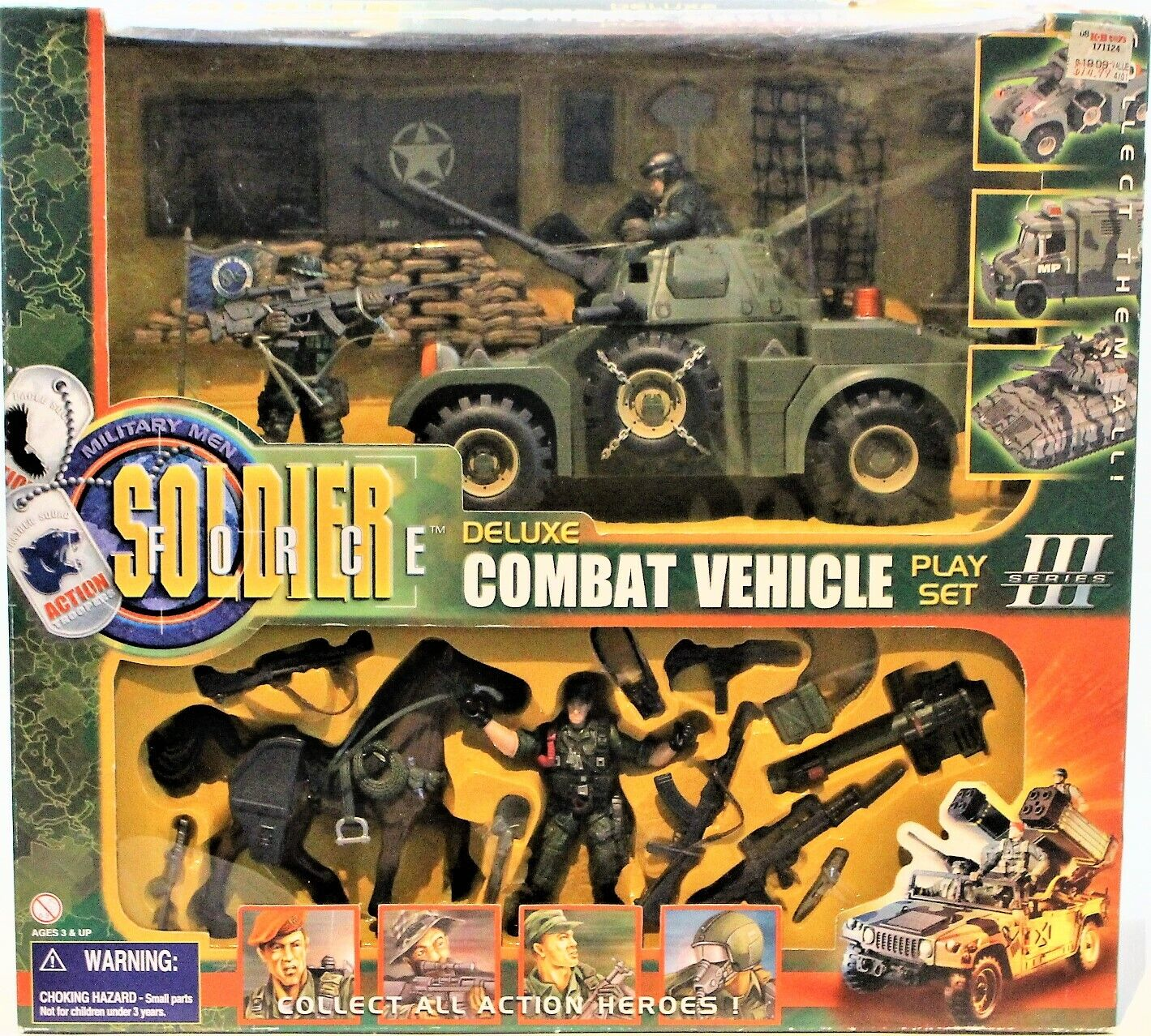 Soldier Force Deluxe Combat Vehicle Playset Series lll Tank & azione cifras