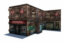 "In STOCK ""The Building 3D Pop Up"" Diorama Display for 1/12 Action Figures"