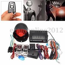 Car Vehicle Burglar Alarm Keyless Lock Entry Security System + 2 Remote Control