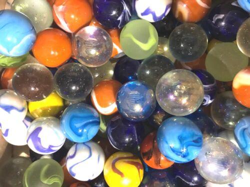 """Glass Boulder Marbles 1.25/"""" Bulk Assorted Mega Lot Set of 4"""
