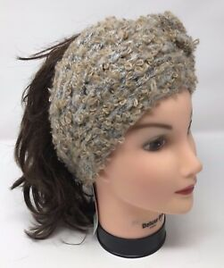 D   Y Sweater Knit HEADBAND HEAD BAND Ear Muffler WARMER SKI SNOW ... 29fd8aed7b2