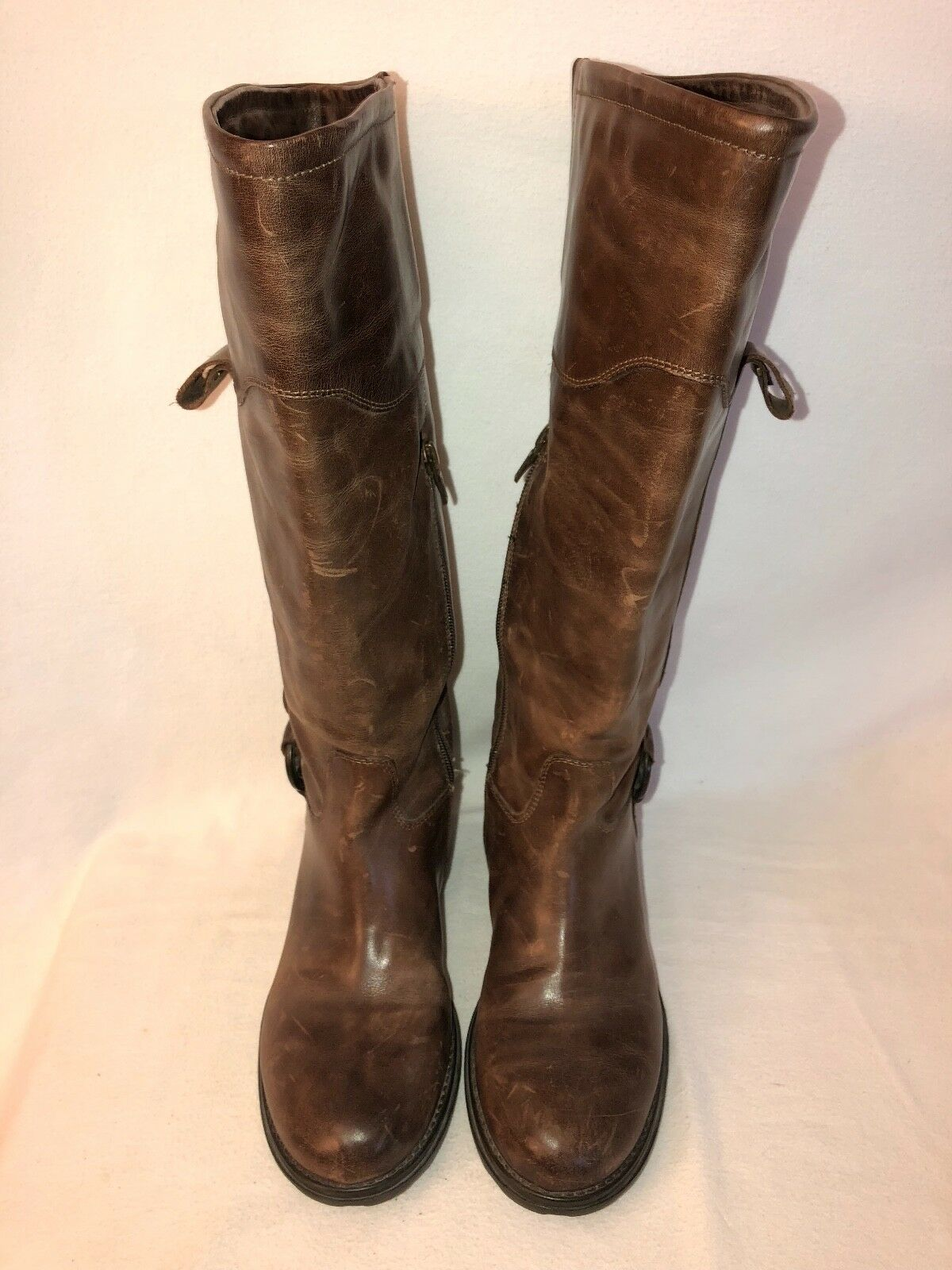 GEOX Ortisei ABX D1348A D1348A ABX Damenschuhe 39 US 9 Oiled Leder Riding Boot Lug Sole Coffee 99c6db