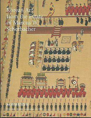SOTHEBY'S KOREAN ART Ceramics Bronzes Screen Paintings Scherbacher Catalog 97 HC