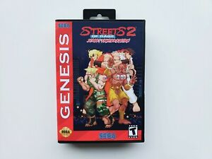 Street Fighter Edition Streets of Rage 2 Game / Case Sega Genesis Beats (USA)