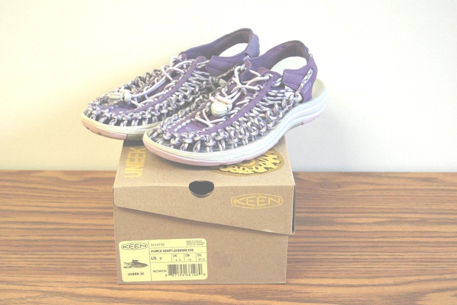 KEEN Size Women's Uneek 3C Sandals, Size KEEN 7, Purple Heart/Lavender Fog, New 564a1c