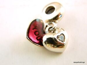 NEW-TAGS-AUTHENTIC-PANDORA-SILVER-CHARM-YOU-AND-ME-DANGLE-791244CZ-RETIRED