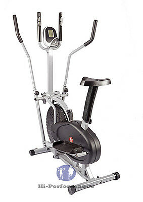Low Price 2 in 1 Elliptical Cross Trainer + Exercise Bike With Seat Cardio