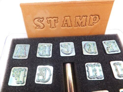 "Ivan standard Leather Craft Set Timbro a secco 1//2/"" - 12 MM Alfabeto"
