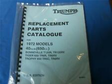 Triumph Replacement Parts Catalog for1972 models,  #99-0953      121