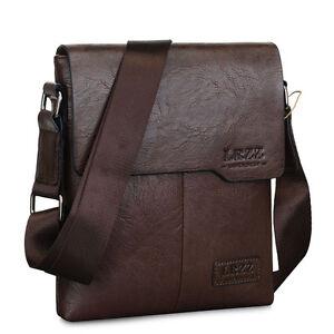 Men-039-s-PU-Leather-Handbag-Briefcase-Laptop-Shoulder-Bag-Messenger-Crossbody-Bags