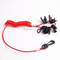 Boat Ignition Safety Kill Switch Tether Lanyard 11 Key For Mercury Yamaha Honda