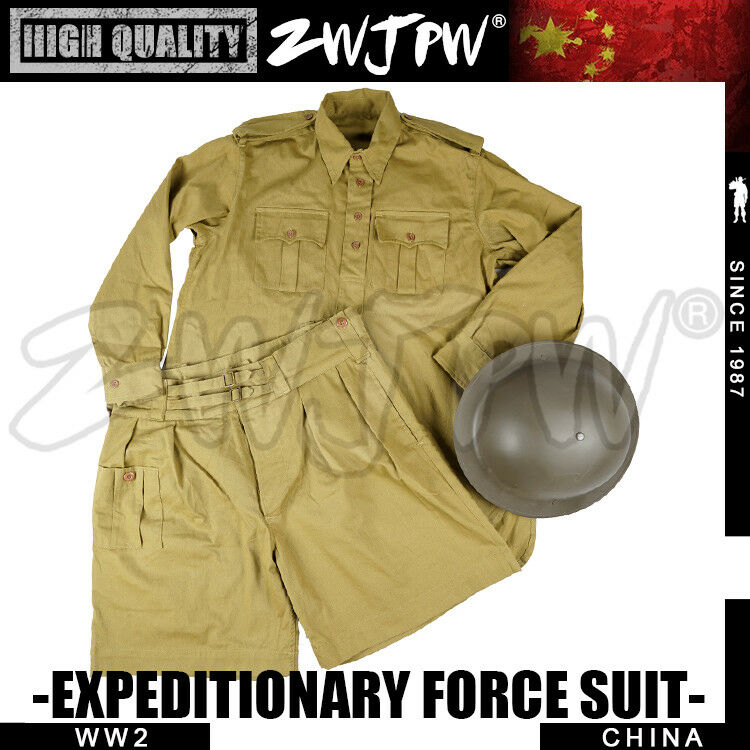WW2  NESE  EXPEDITIONARY FORCE UNIFORM UK P37 UNIFORM SUMMER COAT AND PANTS SET  fitness retailer